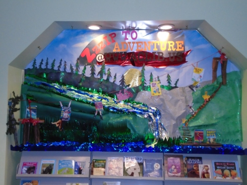 Front view of Zzzip to Adventure Bulletin Board