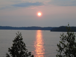 the sun will set on stupid ideas(Lake Bonaparte form out porch)